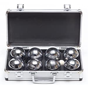 Traditional Alloy Boules Set in stylish metal case