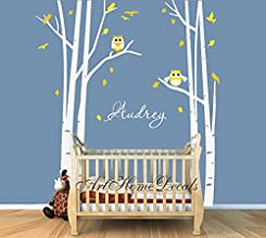 Baby Nursery Decal Kids Tree Wall Vinyl Decal Child Custom Name Children Wall