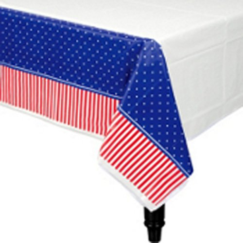 "Amscan American Classic Plastic Table Cover 54"" X 102"""