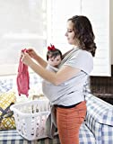Soft and Luxurious Baby Carrier Sling Wrap-Grey-Made in U.S.A.-Outstanding quality- French Terry Comfortable and Breathable- Best Baby Gift-Made from Cotton, Modal -Newborns to 35 Pounds