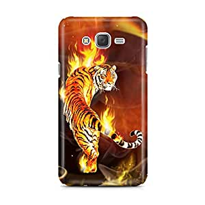 Motivatebox - Samsung Galaxy J7 2016 edition Back Cover - Tiger Fury Polycarbonate 3D Hard case protective back cover. Premium Quality designer Printed 3D Matte finish hard case back cover.
