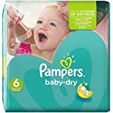 Pampers Baby Dry (Extra Large) Nappies Monthly Pack - Size 6 (124 Nappies)