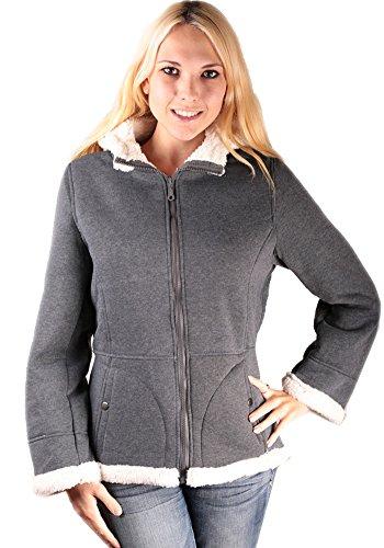 Woodland Supply Co Women 39 S Sherpa Lined Hooded Fleece Zip