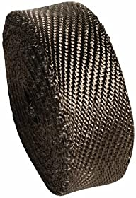 "Heatshield Products 372025 2"" Wide x 25' Lava Header and Exhaust Insulating Heat Wrap Roll"