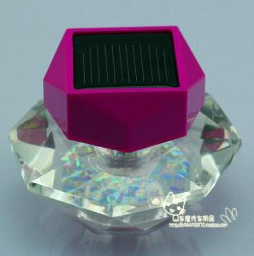 Sunnytech® Solar Car Perfume Leds Neon Scent Bottle Color Changing Light Lamp Crystal Decor (Purple Top)