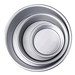 Mikey Store 4/6/8'' Aluminum Alloy Non-stick Round Cake Baking Mould Pan Bakeware Tool SAP