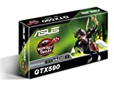 ASUS GeForce GTX 590 (Fermi) 3072MB 768-bit GDDR5 PCI Express 2.0 x16 HDCP Ready SLI Support Video Card, ENGTX590/3DIS/3GD5