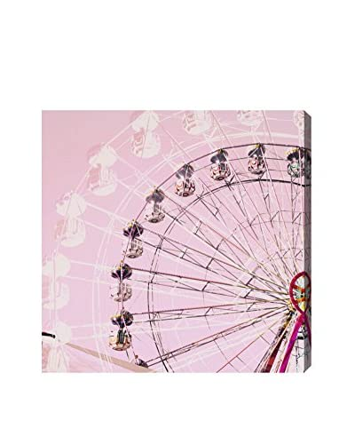 Oliver Gal Ferris Wheel Candy Canvas Art
