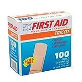 White Cross Tricot Bandage Strips 1'' X 3'' 100/box