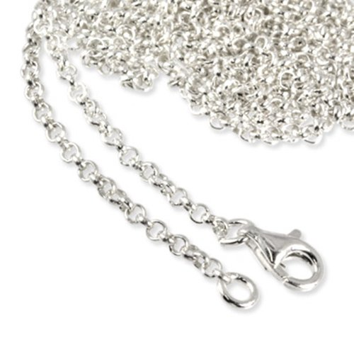SilberDream Charms Necklace 925 Sterling Silver 35.7 inch original Charm Collection Necklace for Charm Pendants FC00289-1