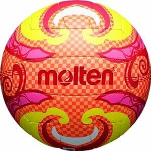 molten Ballon de beach volley Taille 5 Orange/Jaune/Rose