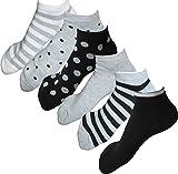 レディース スニーカー ソックス 靴下 カジュアル 23cm ~ 25cm 5足組 セット シンプル カラー 15色 爽やか 綿 素材 スポーツソックス 大きいサイズ にも 対応