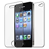 eForCity® 3x Front/Back Screen Protector Guard Compatible with iPhone® 4 4S 4G 4GS G 4th