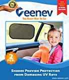 Car Sun Shade for Side Window - Car Sunshade Protector - Protect your kids and pets in the back seat from sun glare and heat. Blocks over 97% of harmful UV Rays - Easy to Install - NO suction cups needed LIFETIME WARRANTY