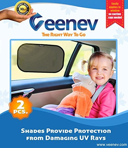 Car Sun Shade for Side Window - Car Sunshade Protector - Protect your kids and pets in the back seat from sun glare and heat. Blocks over 97