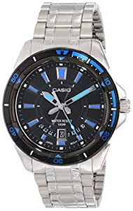 Casio Men's MTD-1066D-1AVDF Core Analog Display Quartz Silver Watch