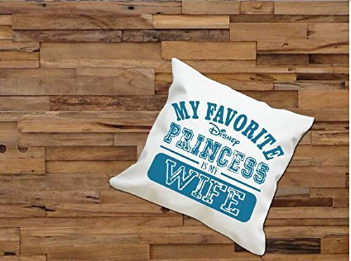 Cartrol My Favorite Princess Is My Wife Square Pillow Case Custom Zippered Pillow Case Two Side front-645257