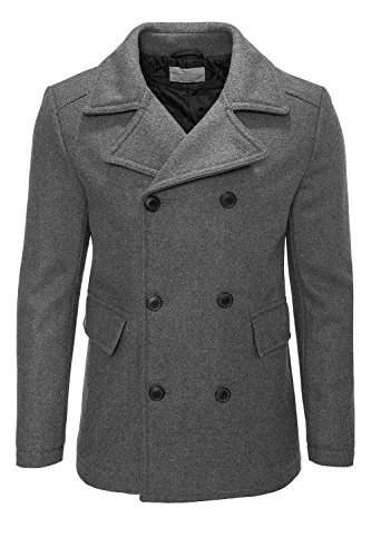 Selected cappotto uomo in lana Anthrazit XL
