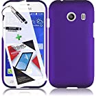 3 in 1 Bundle Samsung Galaxy Ace Style S765C Rubberized Protective Case Cover Skin - Purple with Free Ultra-Sensitive Stylus Pen and Premium Screen Protector by BeautyCentral TM