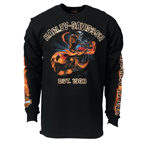 Harley-Davison Men's Long Sleeve T-Shirt - Smoke It | Ramstein Air Base XL