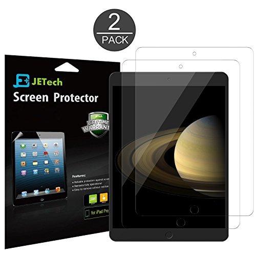 iPad Pro Pellicola Protettiva, JETech® 2-Pack Screen Protector Film per 12.9 Inch Apple iPad Pro (2015 Edizione), senza bolle d'aria installazione, Anti-Fingerprint