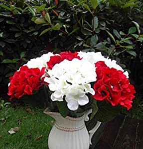 Flowers Bridal Wedding Bouquet Latex Silk Flower Bouquets Red 1pc