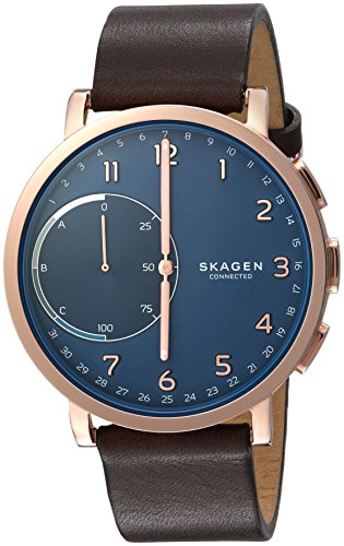 Skagen-Hagen-Connected-Brown-Leather-Hybrid-Smartwatch