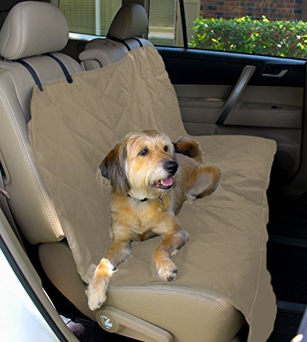Pet Seat Cover for Cars - Easy to Clean Quilted Waterproof Material, Velcro Seat Belt Openings, Non Slip Silicone Backing and Seat Anchors. Universal Protector for Cars, Trucks and SUVs. (Formosa Seat Cover For Pets compare prices)