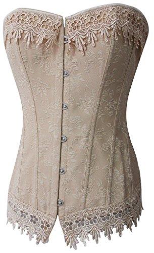 Alivila.Y Fashion Womens Sexy Vintage Floral Lace Trim Corset Bustier 0