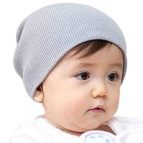 Vovotrade® Neonato ragazze inverno caldo lavorato a maglia cappello (Grigio) b668d72bffa2