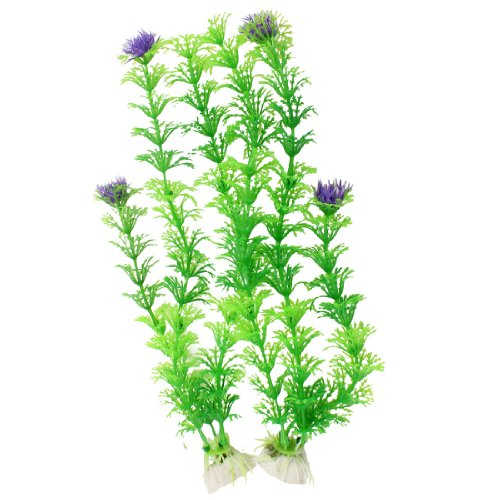 Uxcell 2 piece fish tank aquascaping artificial aquatic for Fake pond plants