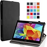 MoKo Samsung Galaxy Tab 4 10.1 / Tab 4 Nook 10.1 2014 Case - Slim-Fit Multi-angle Folio Stand Cover Case, BLACK (WILL NOT Fit Samsung Galaxy Tab 3 10.1)
