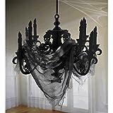 Haunted Candelabra with Gauze Decoration