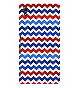 Wave Pattern Wallpaper 3D Hard Polycarbonate Designer Back Case Cover for Sony Xperia Z4 :: Sony Xperia Z4 E6553