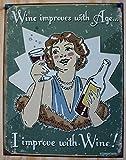 Schonberg - Wine Improved Metal Tin Sign , 12x16