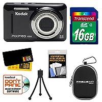 Kodak PixPro Friendly Zoom FZ53 Digital Camera with 16GB Card + Case + Tripod + Kit