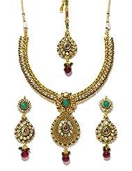Bindhani Gold Plated Kundan Jewellery Set-kum102
