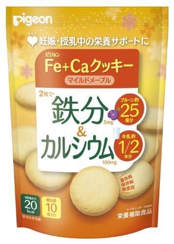 ピジョン 鉄分&カルシウム Fe+Caクッキー マイルドメープル 40g×5個