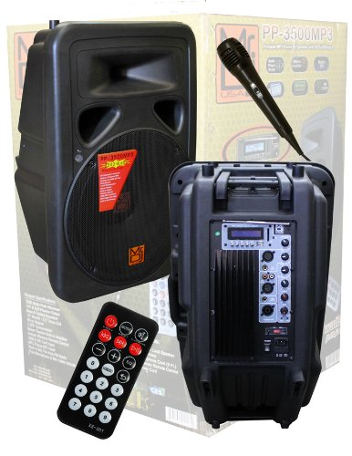 Mr. Dj Pp3500Mp3 15-Inch 2500 Watts Max Power Speaker With Built In Lcd/Am Fm Radio/ Mp3/Usb/Sd Card Slot/Microphone