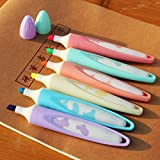 Katoot@ 6 pcs/set Creative cow highlighters pen Candy color Fluorescent pen marker for kids Kawaii stationery school office supplies