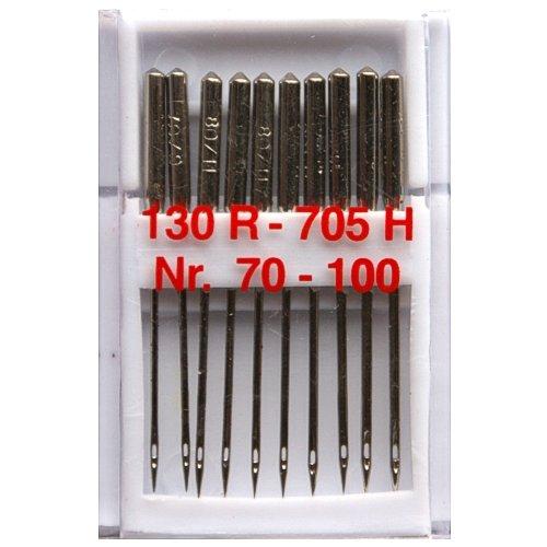 10 Nähmaschinennadeln Universal Nr.70-100 Flachkolben 130R/705H für Nähmaschine, 0355
