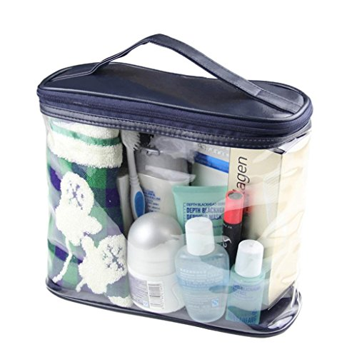 LOUISE-MAELYS-Clear-Cosmetic-Bag-with-Top-Handle-Travel-Toiletry-Case-Train-Bags