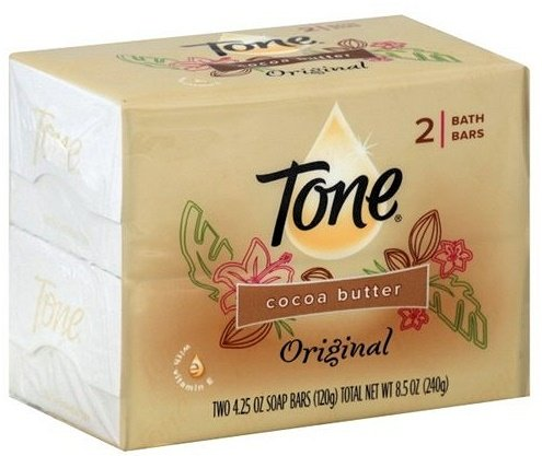Tone Bath Bars Cocoa Butter, Original, 4.25 Oz, 2 Count, (Pack of 4) 8 Bars Total Cocoa Bath