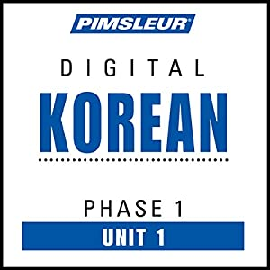 Korean Phase 1, Unit 01 Hörbuch