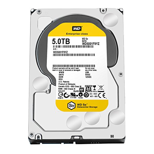 WD SE 5TB Datacenter Hard Disk Drive - 7200 RPM SATA 6 Gb/s 128MB Cache 3.5 Inch - WD5001F9YZ