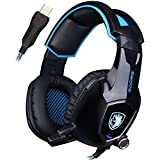 Sades Gaming Headset With Fixed Microphone AW50 Stereo Sound / USB 2.0 / Vibration Module / Noise Insulation Pads...