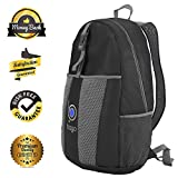 Packable Backpack Daypack For Men, Women And Children - Lightweight Foldable Travel Bag, Rucksack, Carry On For More Luggage Space - Folds Into It's Inner Pocket - AVOID OVERWEIGHT CHARGES - 100% RISK FREE SATISFACTION GUARANTEE !