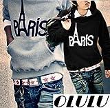 (オルル)OLULU PARIS ロゴ プリント プルオーバー パーカー/パーカ スウェット プル メンズ 2014 春 140211-02