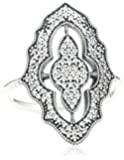 Pandora Sterling Silver Cubic Zirconia Sparkling Classic Lace Ring - 190917CZ-52 - Stories Collection - Size L 1/2