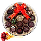 Valentine Chocholik's Belgium Chocolates - Excellent Taste Of Chocolates With 24k Red Gold Rose